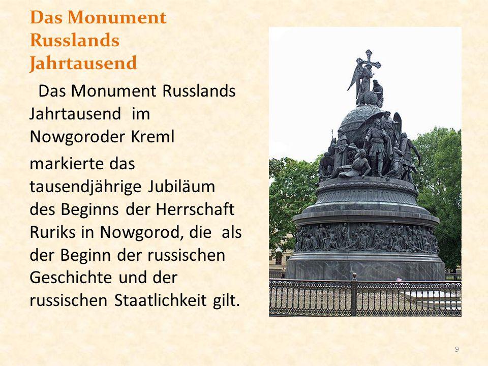 Das Monument Russlands Jahrtausend