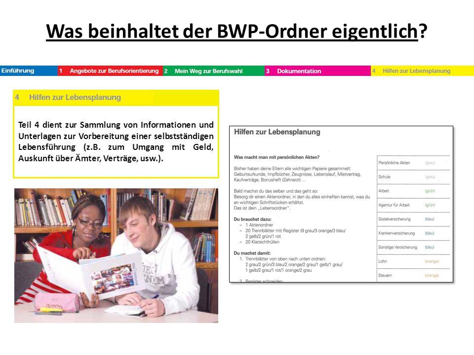 Was beinhaltet der BWP-Ordner eigentlich