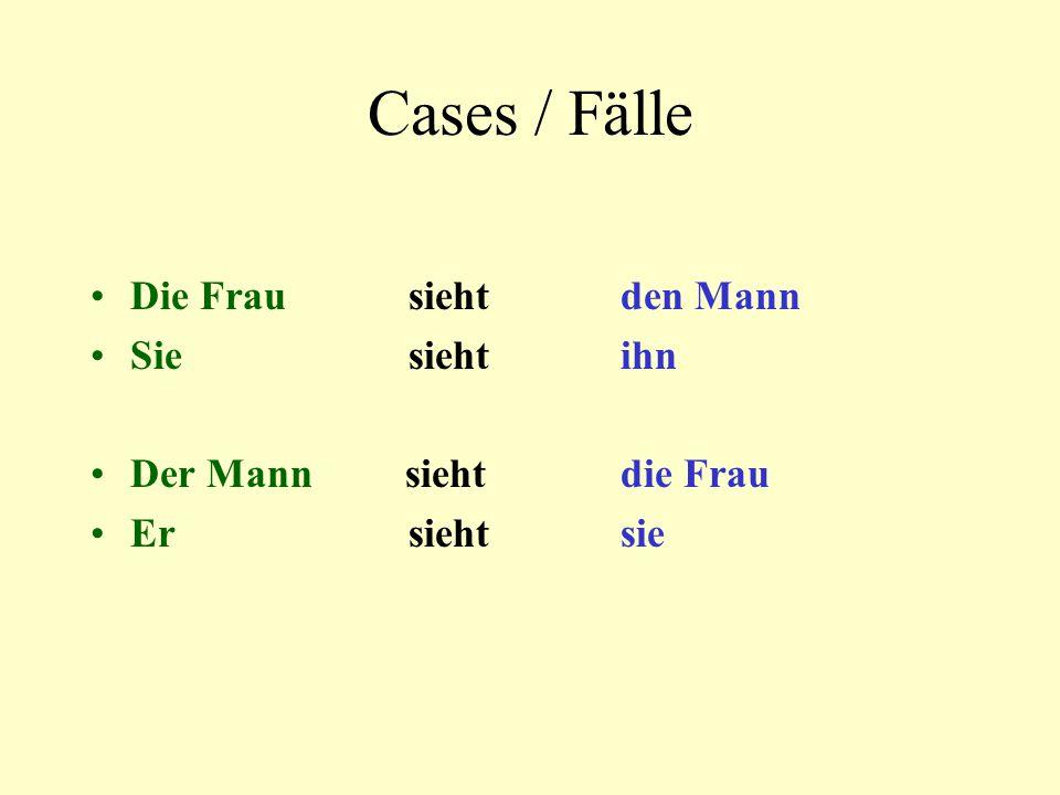 Cases / Fälle Die Frau sieht den Mann Sie sieht ihn