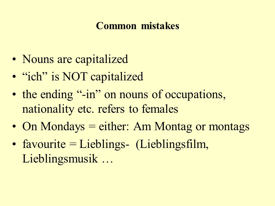ich is NOT capitalized