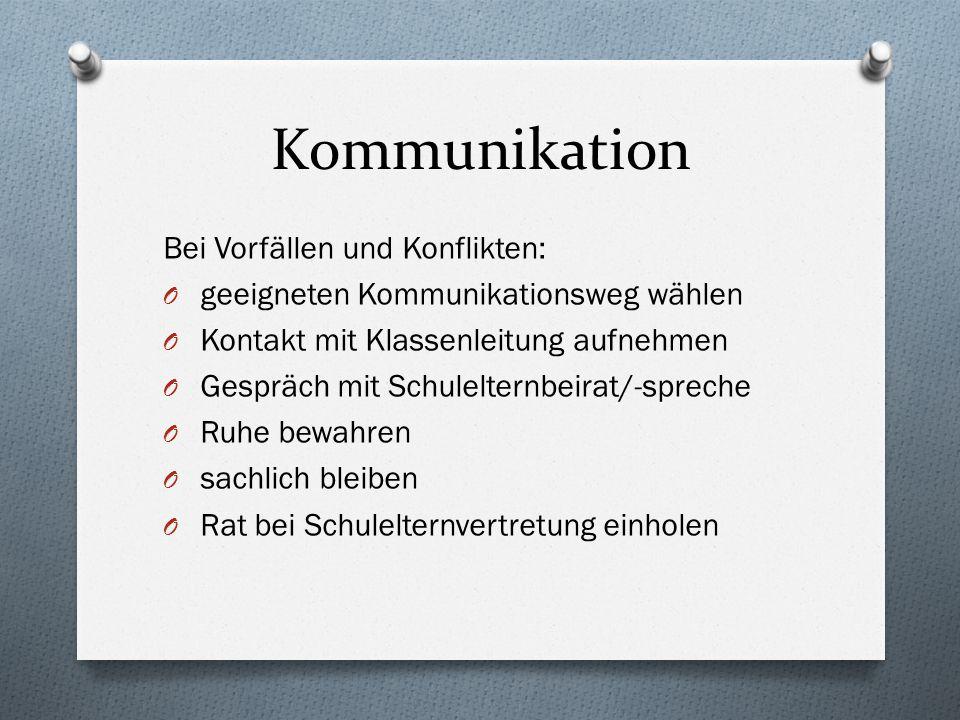Kommunikation Bei Vorfällen und Konflikten: