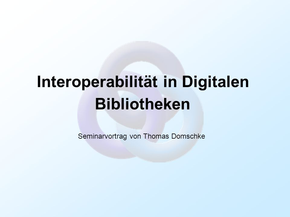 Interoperabilität in Digitalen