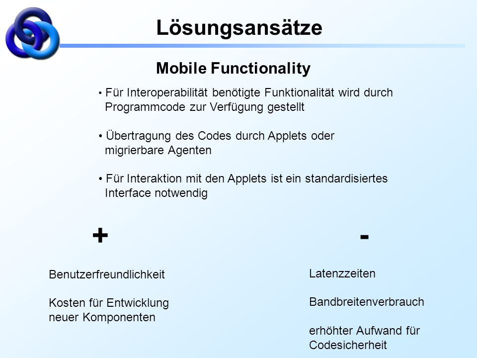 Lösungsansätze Mobile Functionality