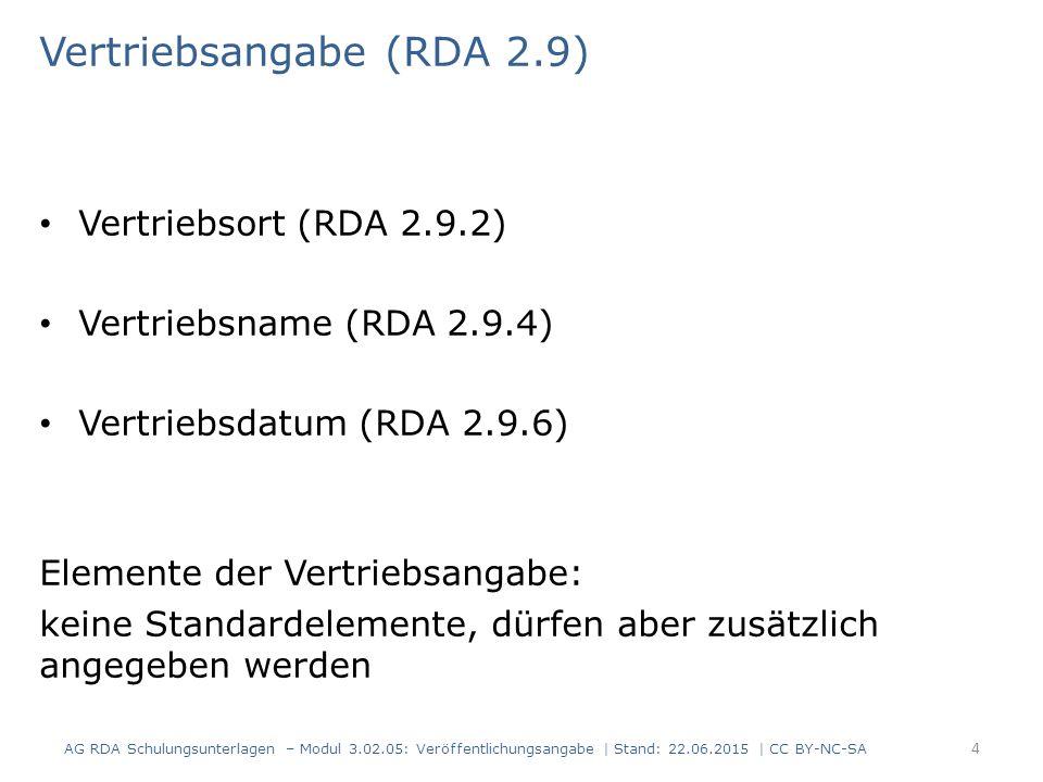 Vertriebsangabe (RDA 2.9)
