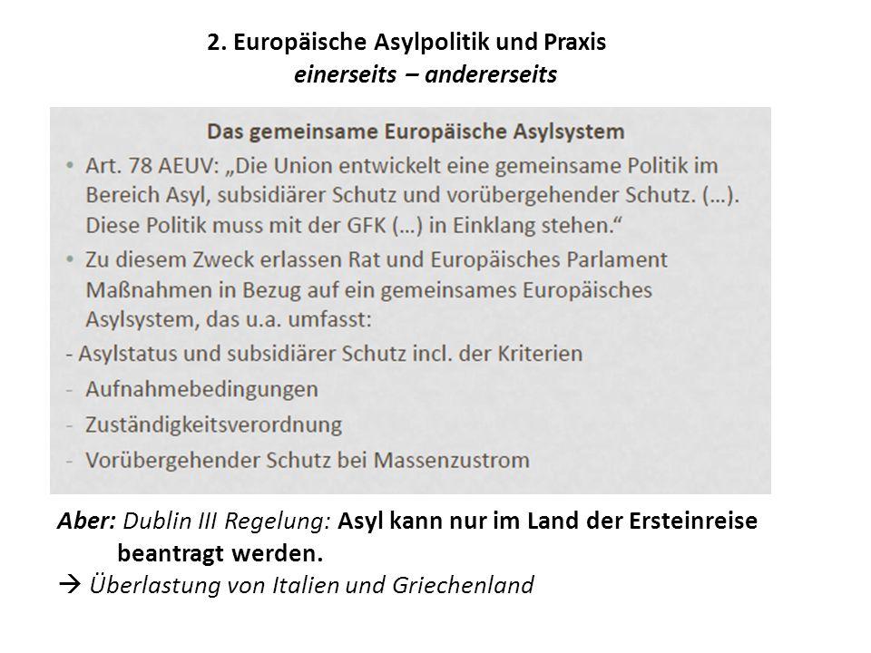 2. Europäische Asylpolitik und Praxis