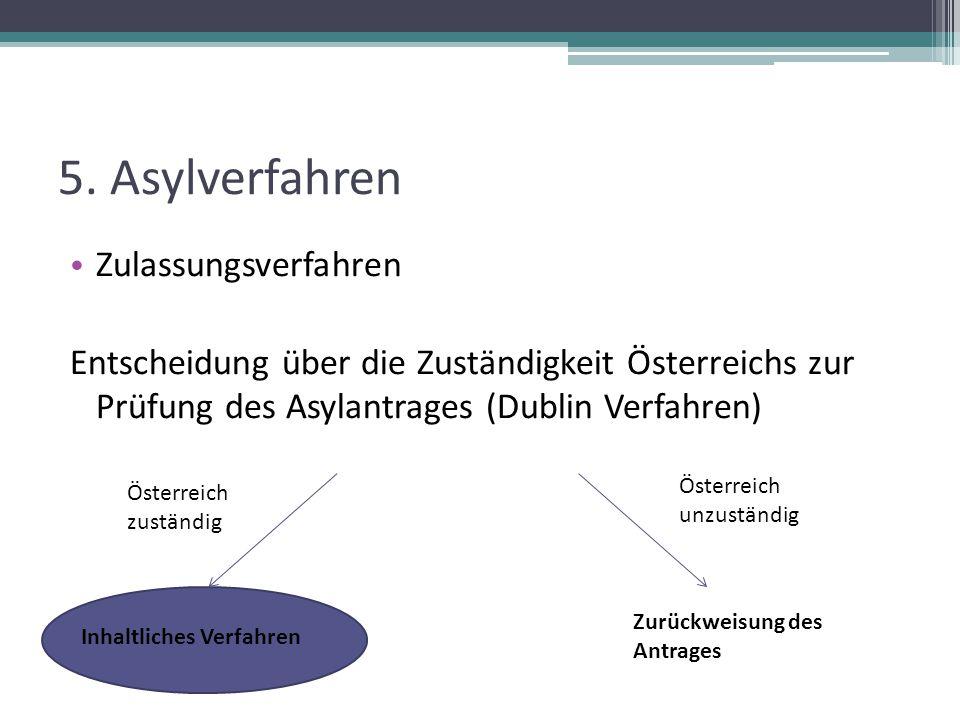 5. Asylverfahren Zulassungsverfahren