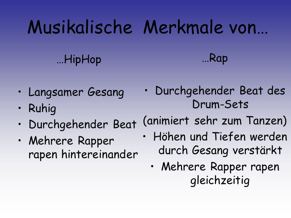 Musikalische Merkmale von…