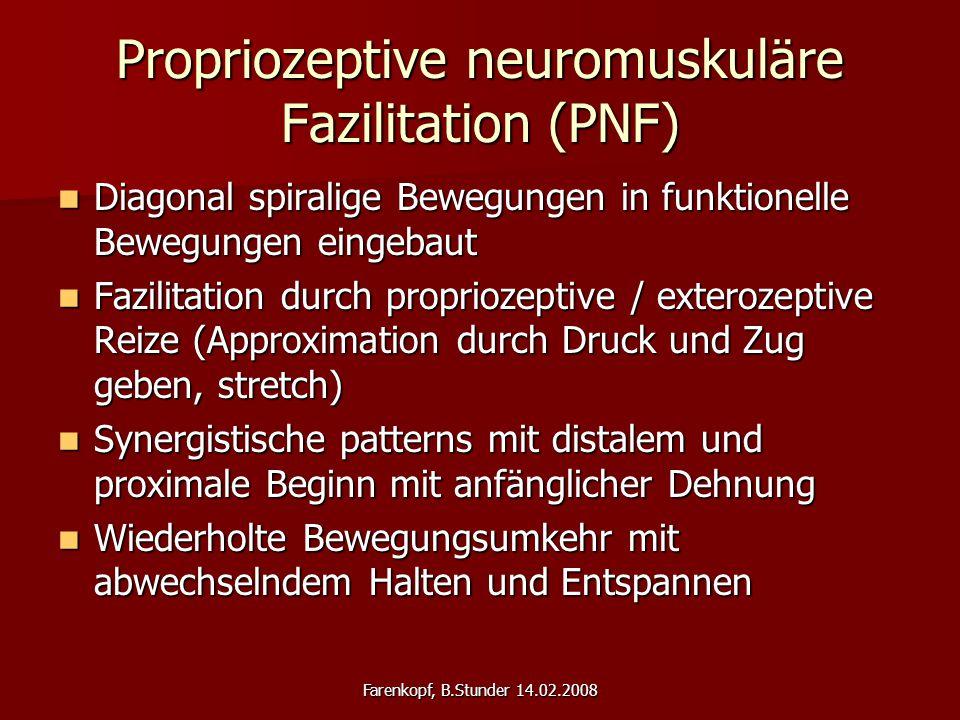 Propriozeptive neuromuskuläre Fazilitation (PNF)