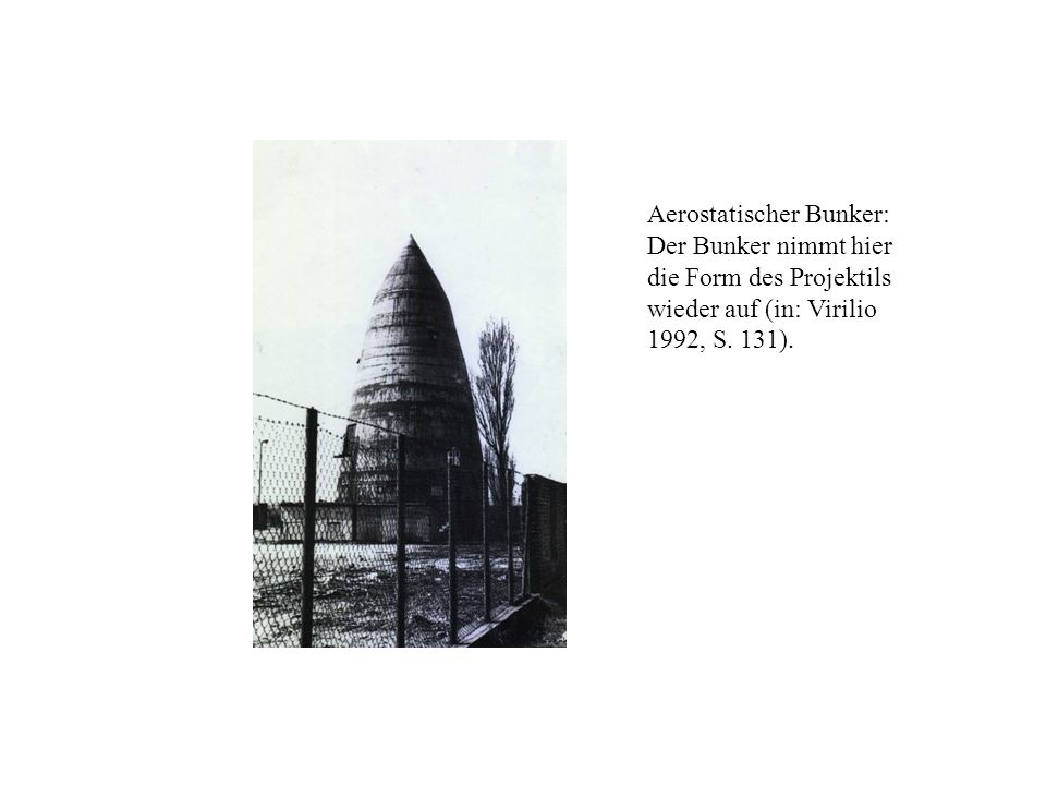 Aerostatischer Bunker: