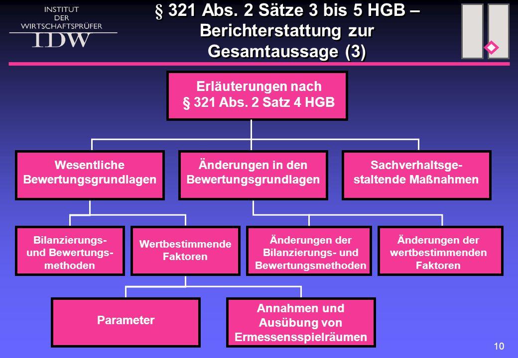 § 321 Abs. 2 Sätze 3 bis 5 HGB – Berichterstattung zur Gesamtaussage (3)