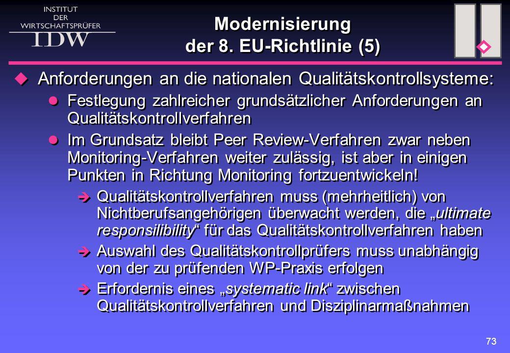 Modernisierung der 8. EU-Richtlinie (5)