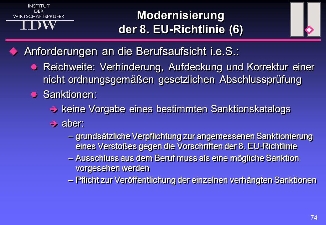 Modernisierung der 8. EU-Richtlinie (6)