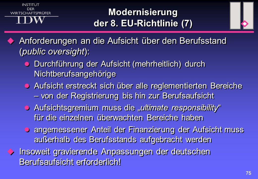 Modernisierung der 8. EU-Richtlinie (7)