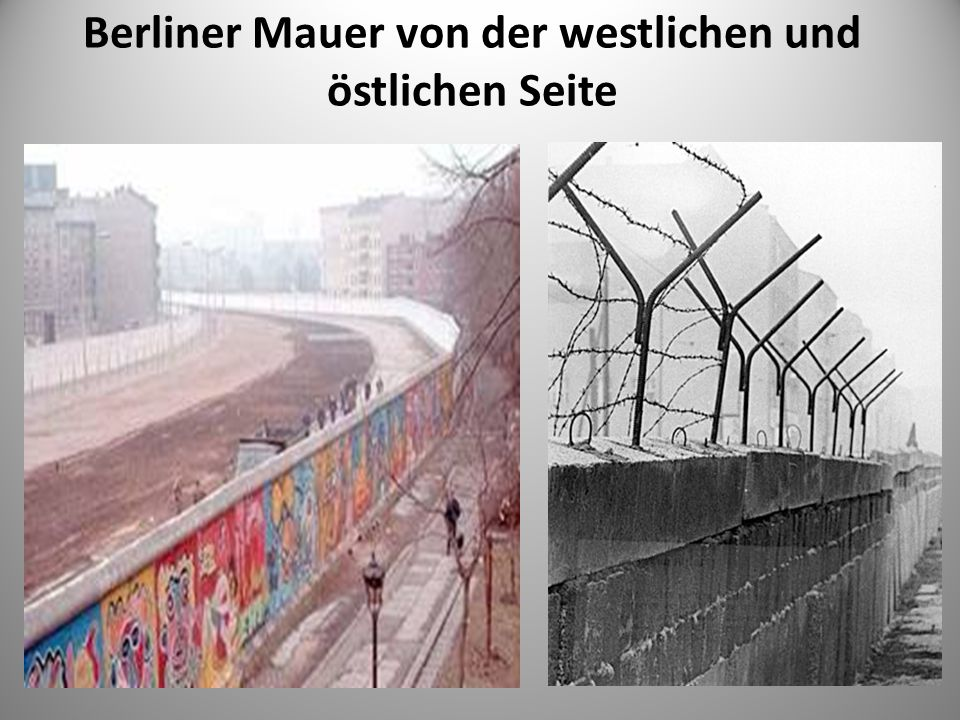 Berliner Mauer von der westlichen und östlichen Seite
