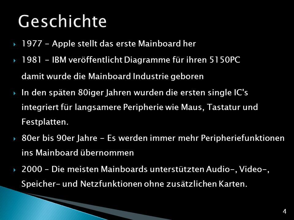 Geschichte 1977 - Apple stellt das erste Mainboard her