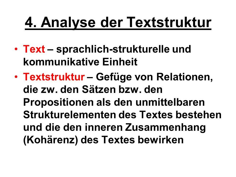 4. Analyse der Textstruktur