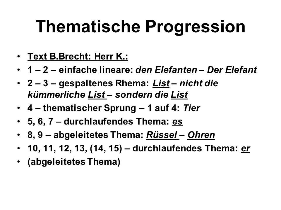 Thematische Progression