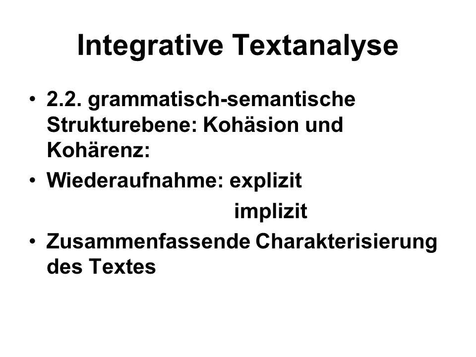 Integrative Textanalyse