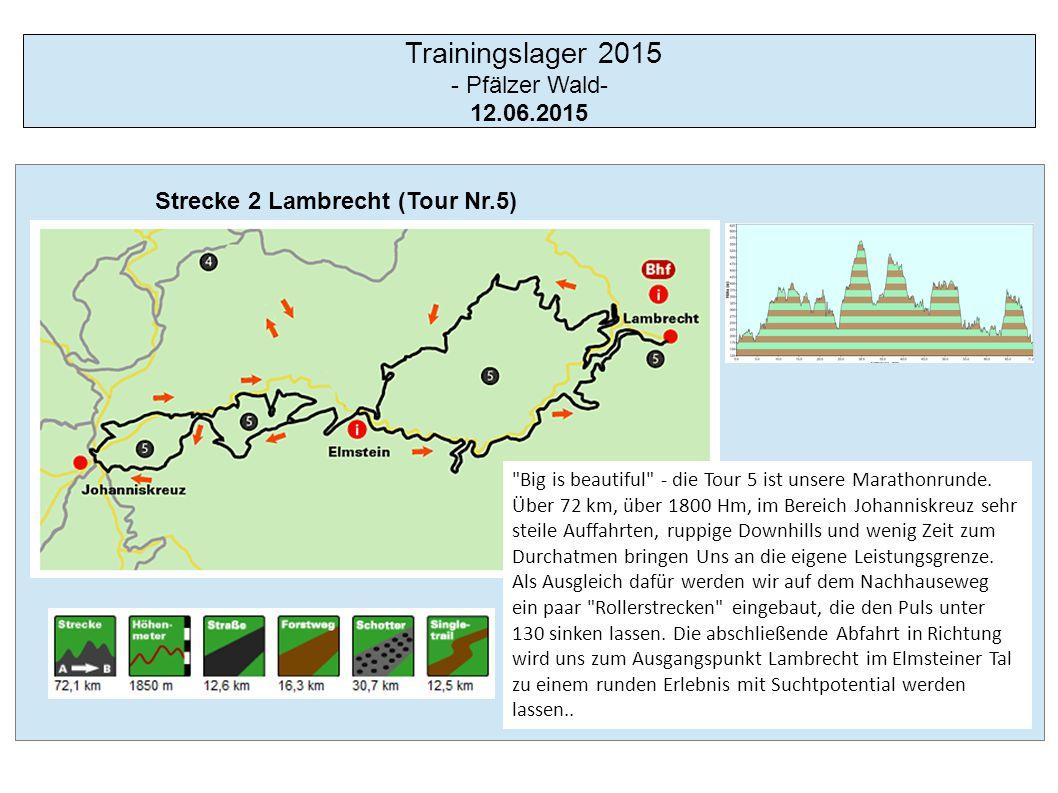 Trainingslager 2015 - Pfälzer Wald- 12.06.2015