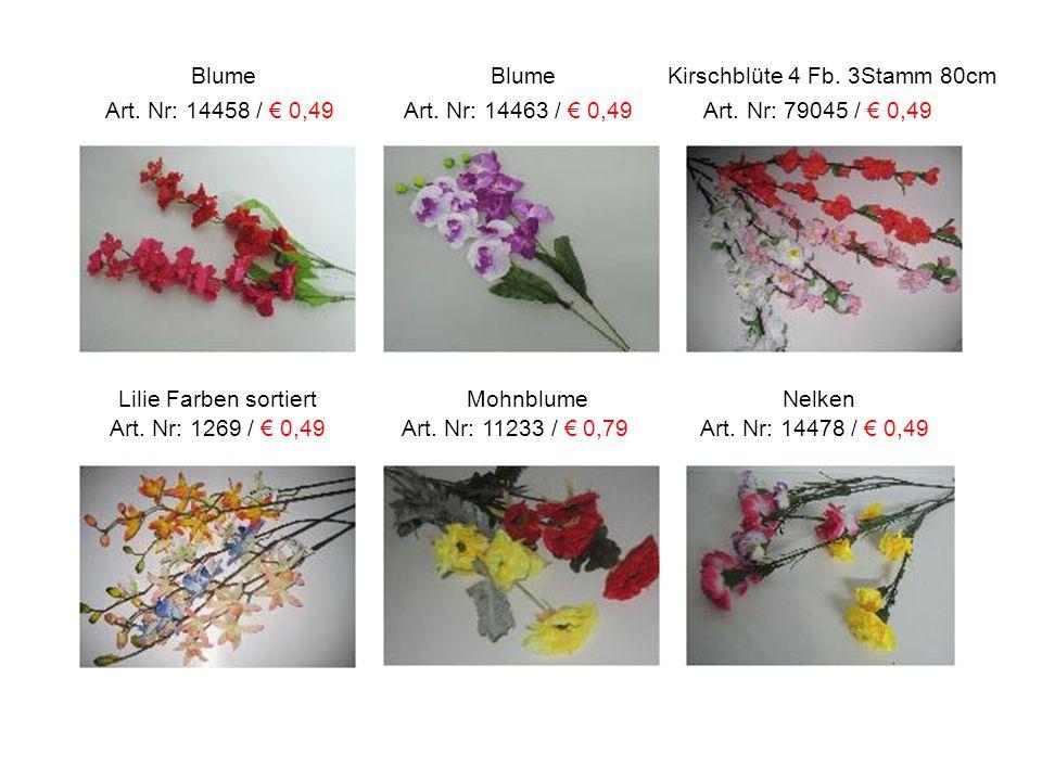Blume Blume Kirschblüte 4 Fb. 3Stamm 80cm Art. Nr: 14458 / € 0,49 Art