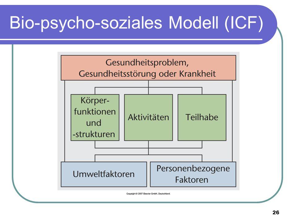 Bio-psycho-soziales Modell (ICF)