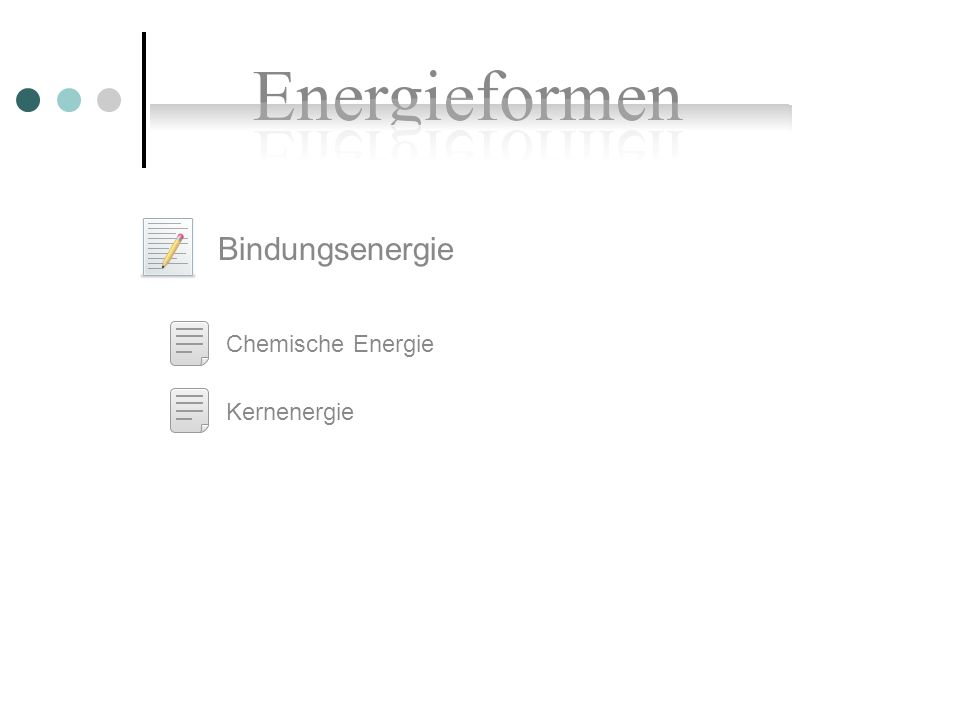 Bindungsenergie Chemische Energie Kernenergie