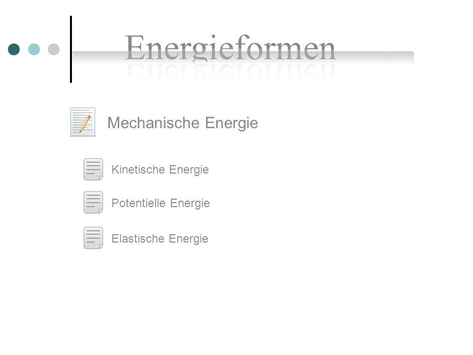 Mechanische Energie Kinetische Energie Potentielle Energie