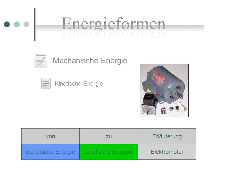 Mechanische Energie Kinetische Energie von zu Erläuterung