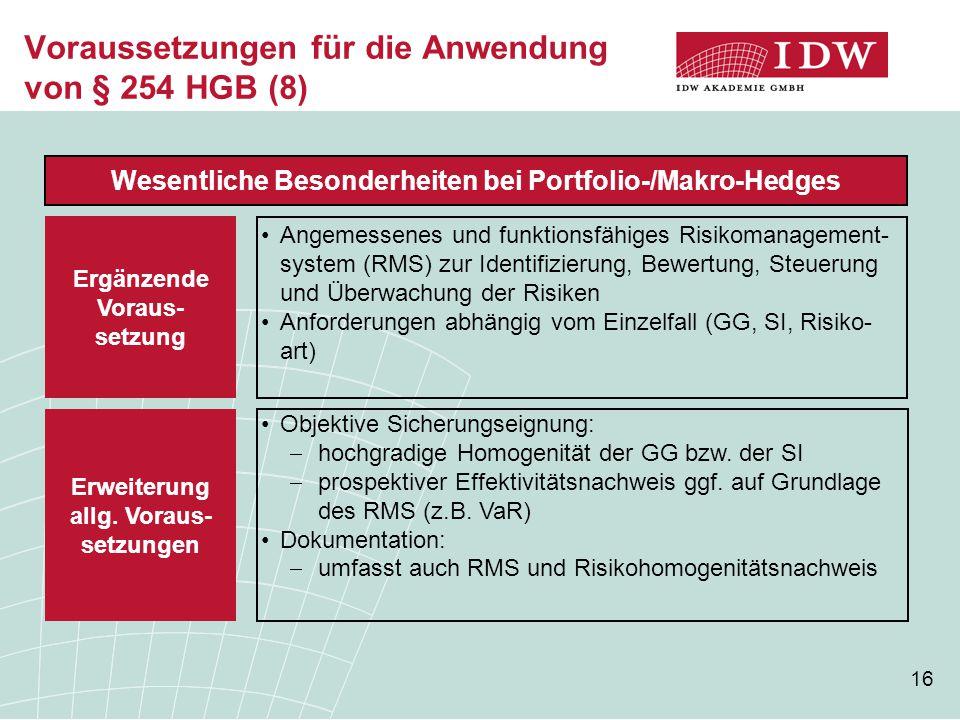 Voraussetzungen für die Anwendung von § 254 HGB (8)