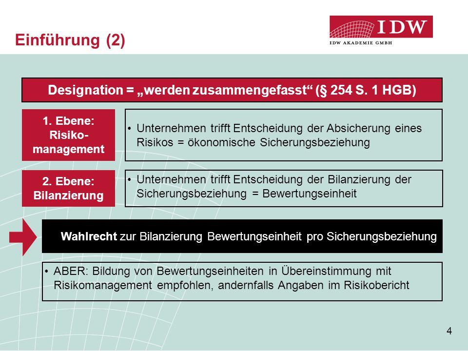 """Einführung (2) Designation = """"werden zusammengefasst (§ 254 S. 1 HGB)"""