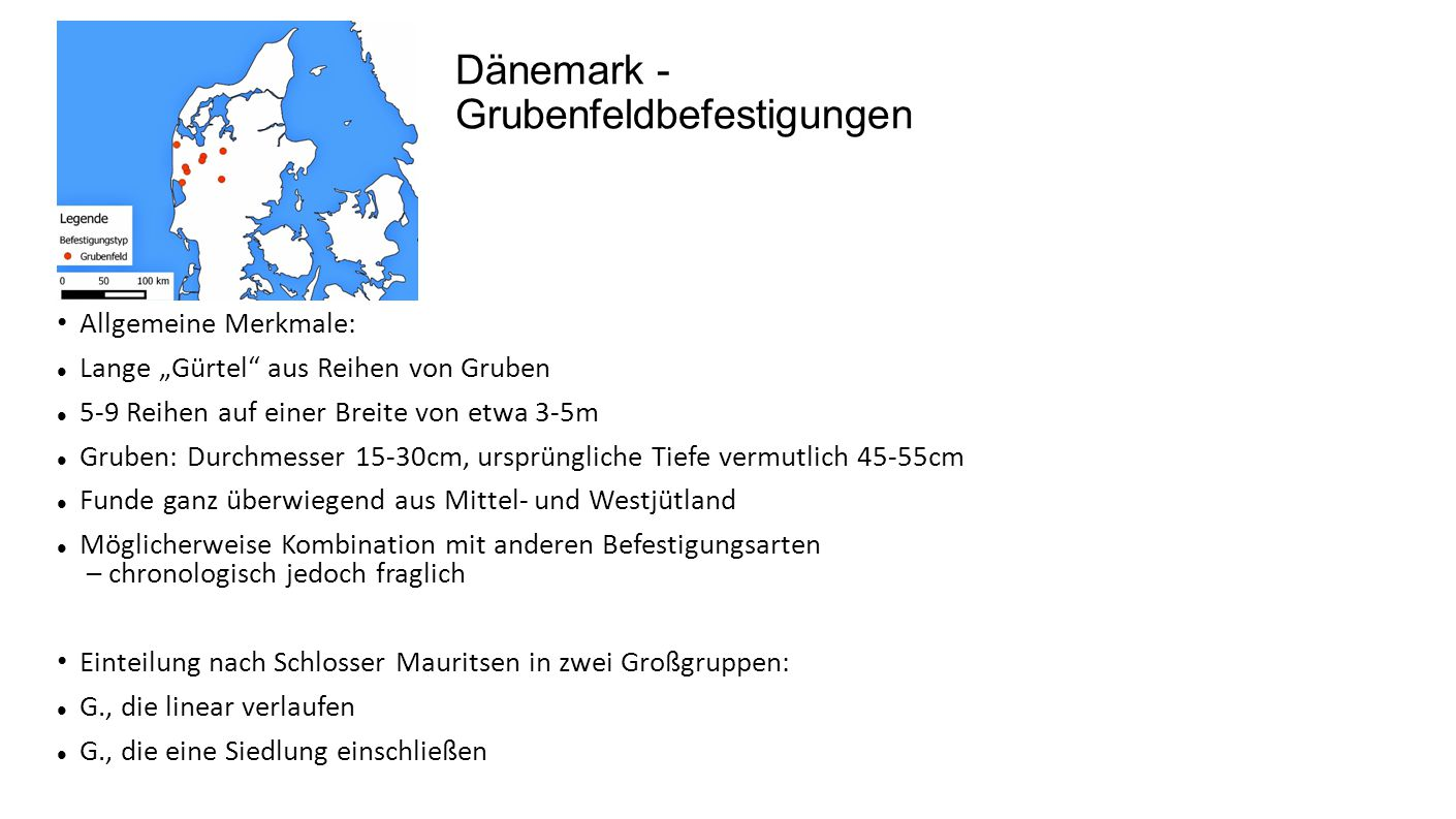Dänemark - Grubenfeldbefestigungen