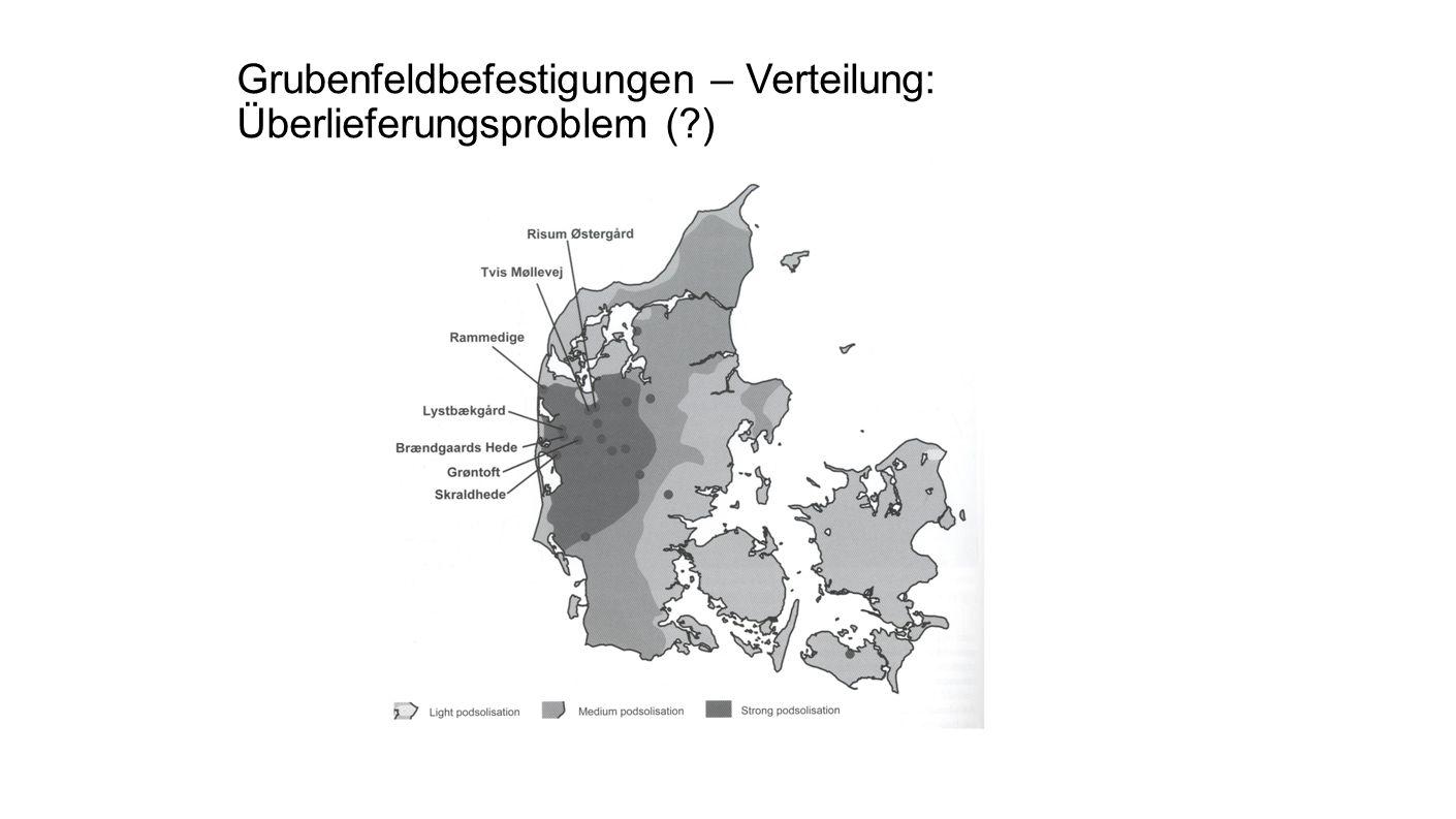 Grubenfeldbefestigungen – Verteilung: Überlieferungsproblem ( )