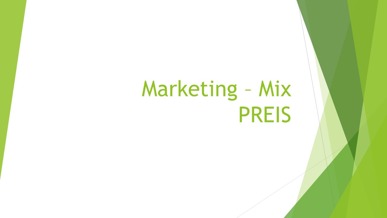 Marketing – Mix PREIS