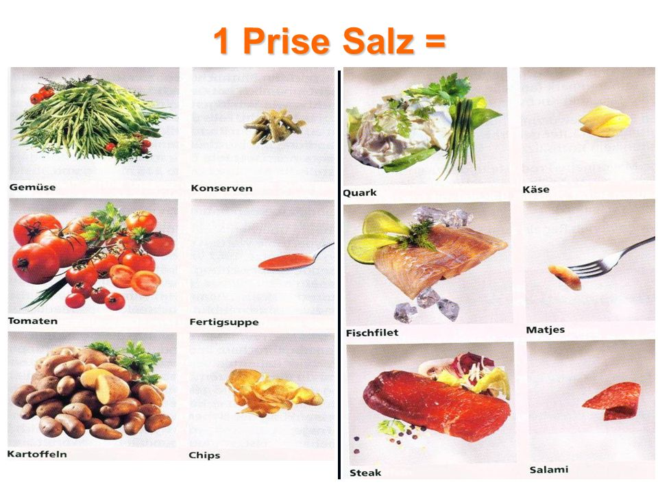 1 Prise Salz =