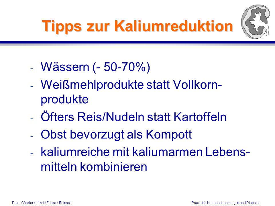 Tipps zur Kaliumreduktion