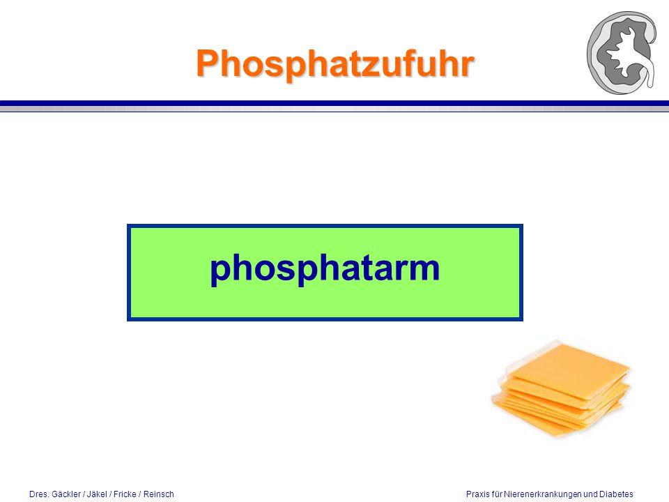 Phosphatzufuhr phosphatarm