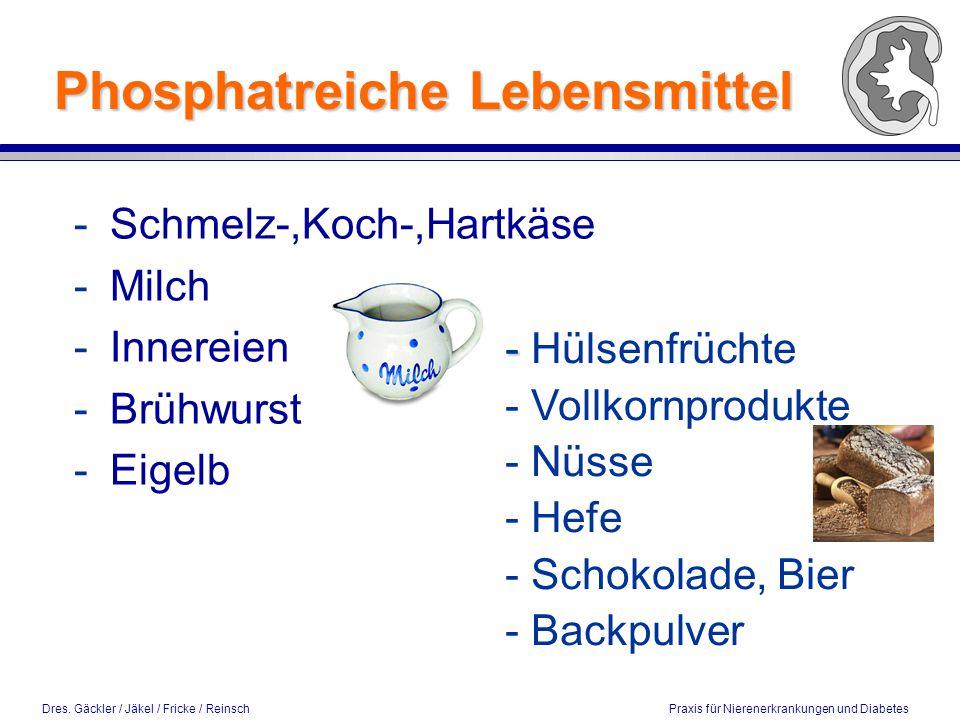Phosphatreiche Lebensmittel