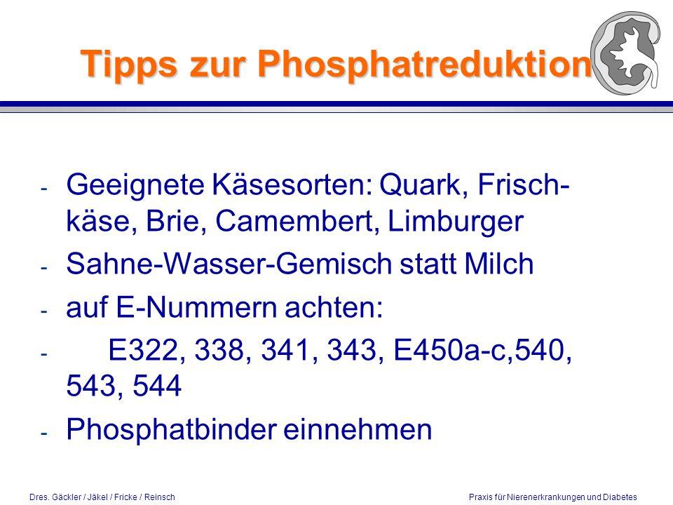 Tipps zur Phosphatreduktion