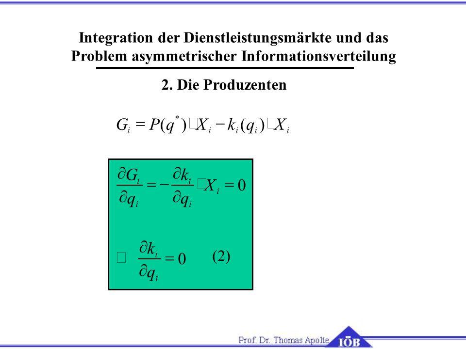 Integration der Dienstleistungsmärkte und das