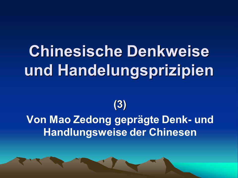 Chinesische Denkweise und Handelungsprizipien