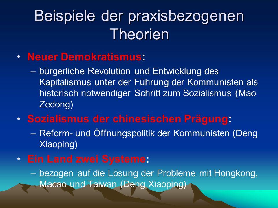 Beispiele der praxisbezogenen Theorien