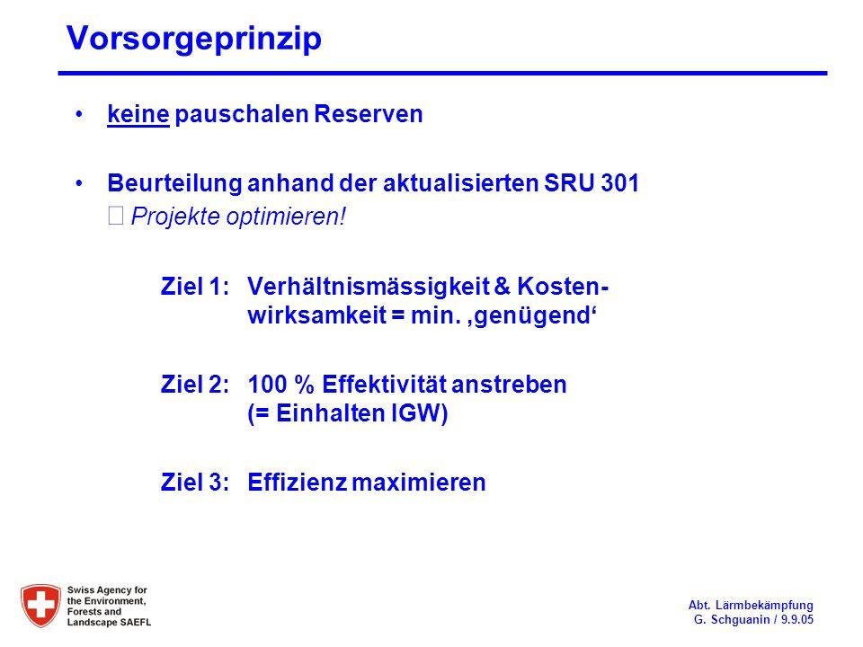 Vorsorgeprinzip keine pauschalen Reserven