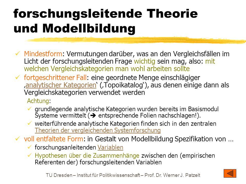 forschungsleitende Theorie und Modellbildung