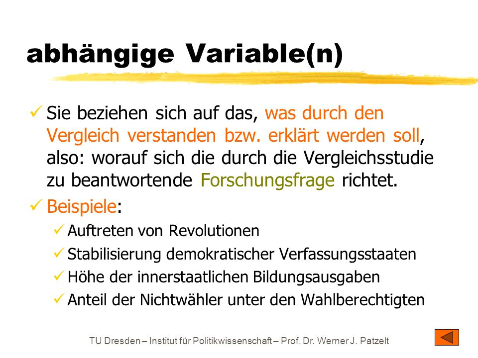 abhängige Variable(n)