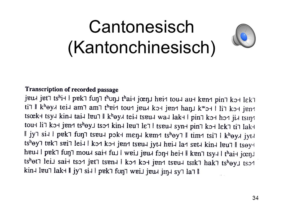 Cantonesisch (Kantonchinesisch)