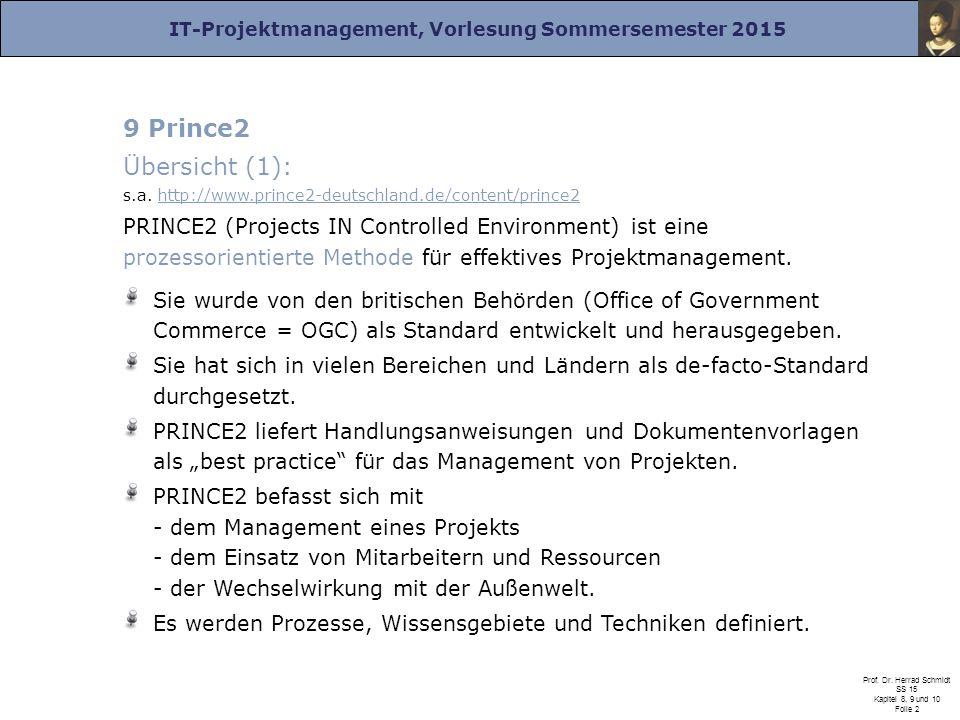 Übersicht (1): s.a. http://www.prince2-deutschland.de/content/prince2