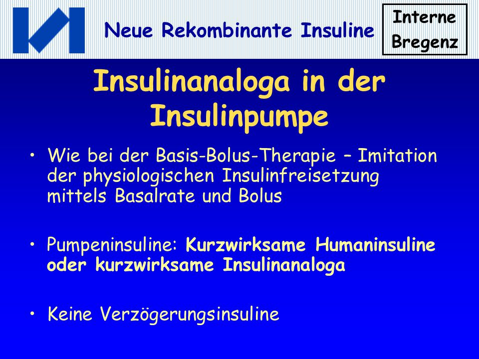 Insulinanaloga in der Insulinpumpe