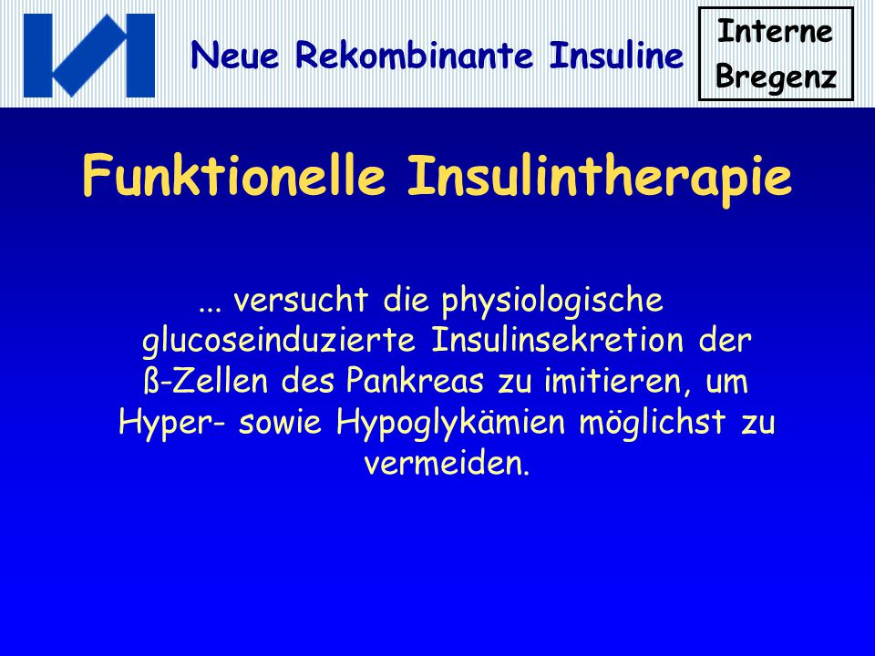 Funktionelle Insulintherapie