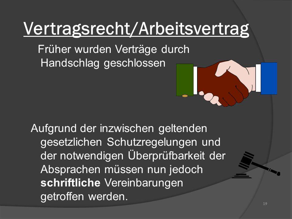 Vertragsrecht/Arbeitsvertrag