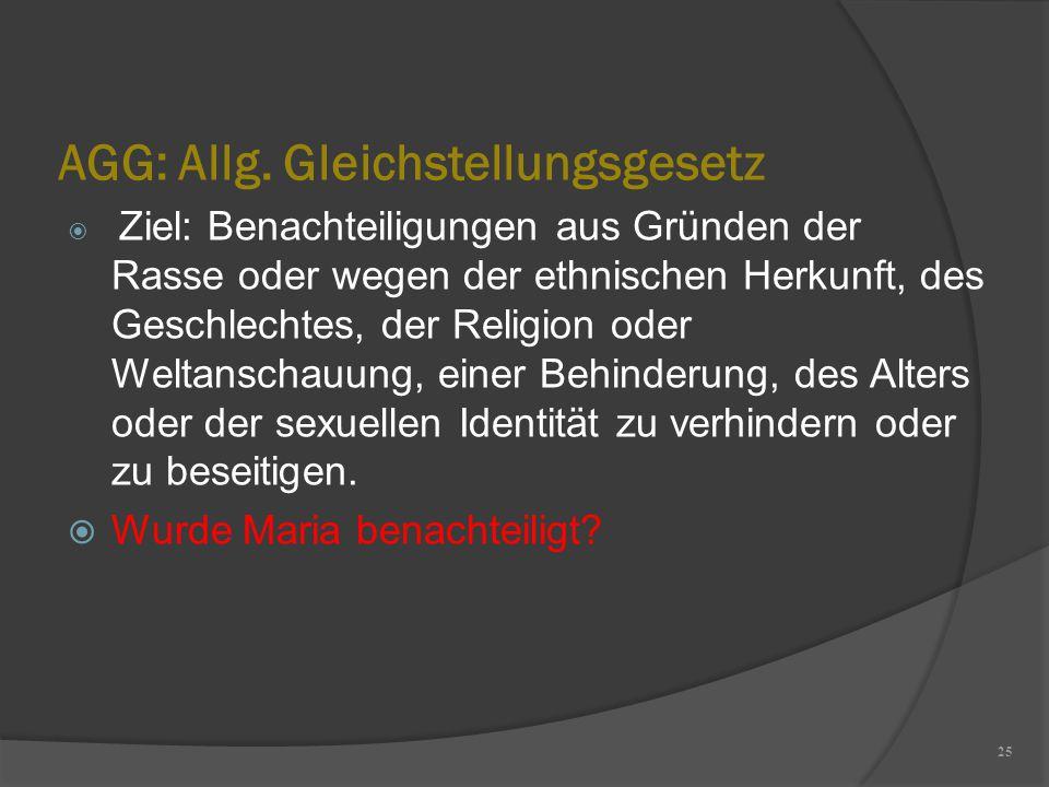 AGG: Allg. Gleichstellungsgesetz